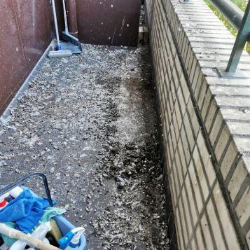 duivenpoep verwijderen balkon